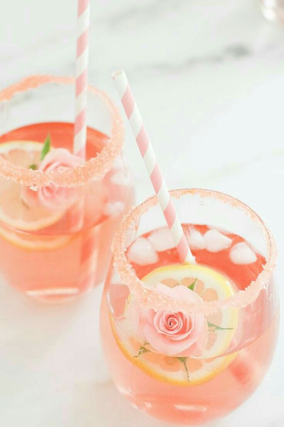 Cocktails, Gin, Rose Flavoured Drinks